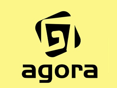 Agora video game school minimal identity logo fictive