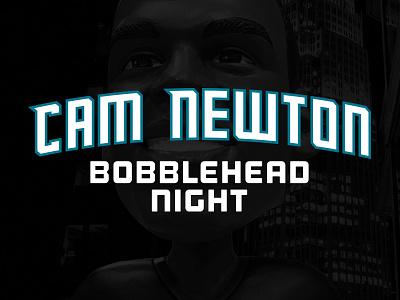 Cam Newton Bobblehead Night night panther carolina charlotte hornets cam newton typography bobblehead nfl nba type