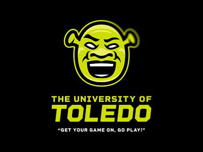 Toledo's New Mascot brand logo mascot college toledo shrek