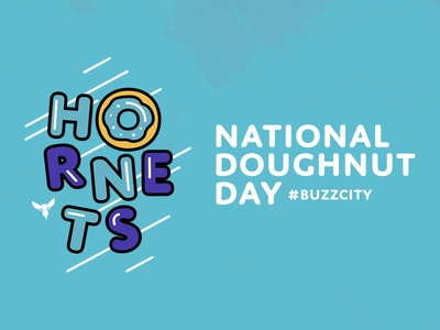 Yum. basketball charlotte nba hornets national donut doughnut