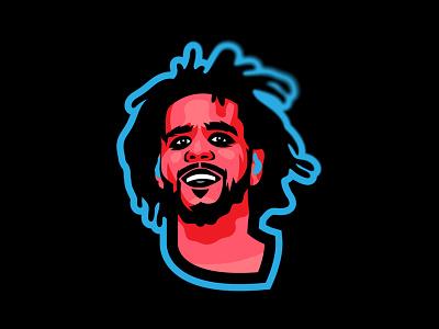 J. Cole illustration dreamville cole j cole