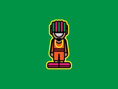 Lil Pump color cartoon hip hop rapper rap illustrator illustration lil pump