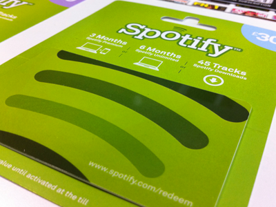 Spotify gift cards