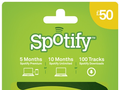 Spotify  50 gift card
