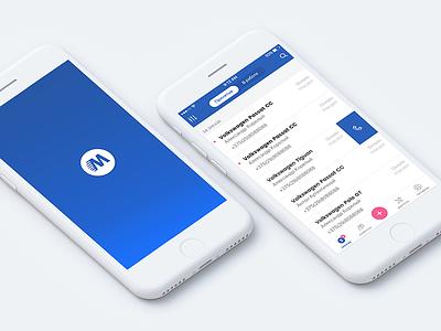 List of orders service auto atlant-m blue list orders ux ui app mobile