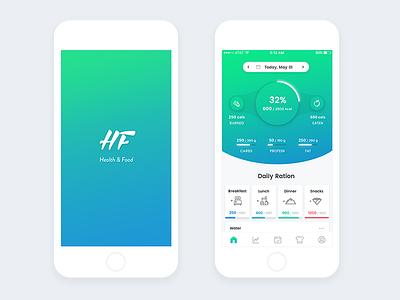 """Health & food"" mobile app ui ux food health mobile ration app"