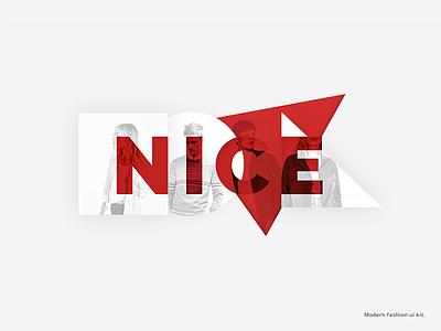 NICE. Modern fashion ui kit nice geometry red fashion uikit ui