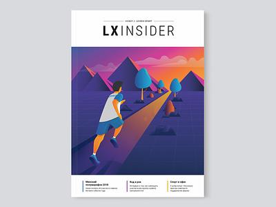 LXINSIDER Cover cover art cover magazine print leverx illustration design