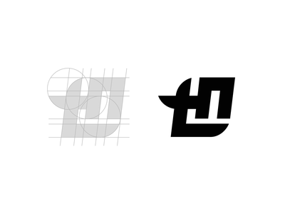 Logo for local Rock Band grid design grid grid logo typography design minimalist logo minimalism minimalistic branding logo