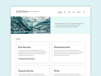Service page for BeSpoken