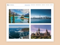 Overview page of a travel destination