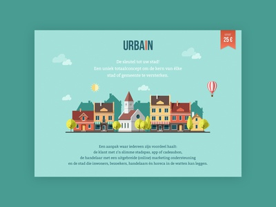 Part of the homepage for Urbain