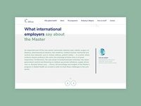 Master Global Health - part of the homepage