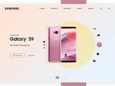 Samsung website design ux web ui