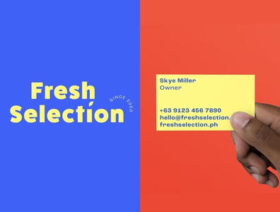 Fresh Selection - Logo & Business Card philippines bold business card branding logo fresh selection grocery store