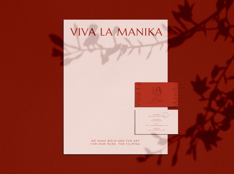Viva La Manika - Brand Refresh fashion business card letterhead illustration branding viva la manika