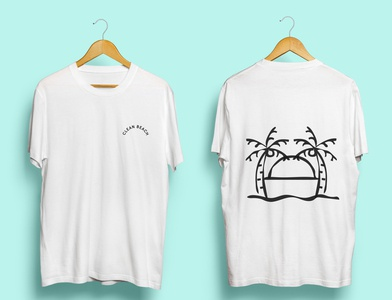 Clean Beach - T-shirt Design t-shirt illustration branding t-shirt logo clean beach