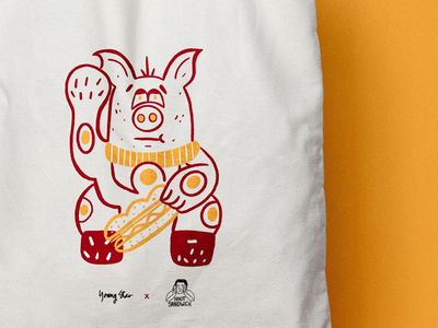 Tote for Young Star x Idiot Sandwich's collaboration