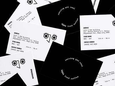 Ojo Cafe Branding - Business Cards branding cafe ojo cafe logo logo identity business cards