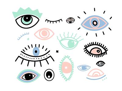 Pattern/Mural Design for Ojo Cafe pattern design ojo cafe illustration branding eyes