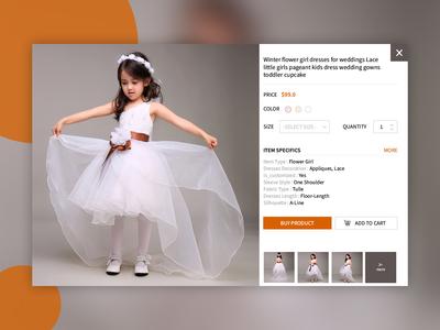 E-commerce site product popup