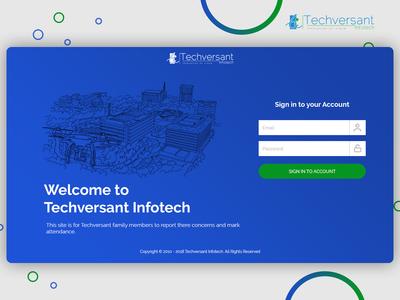 Techversant Login Page