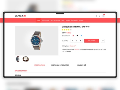 Saniva e-commerce sites