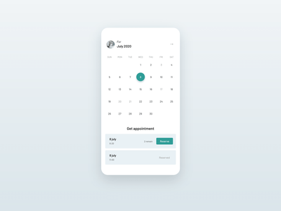 Daily UI #038 / Get appointment daily ui