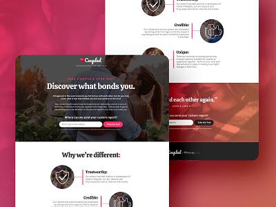Coupled Quiz Assets branding illustration ui design form landing page