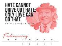 February Quote Calendar