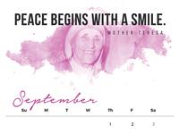 September Quote Calendar