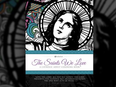 Catholic Saints Coloring Book Cover
