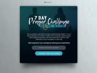 Prayer Challenge landing page