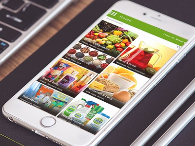 Online grocery,vegetables,fruits,meat and household products App
