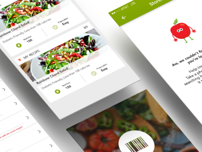 Shopwell - a personal nutrition expert in your pocket. empty states shop food tracker shopwell scanner recipe onboarding mobile location details