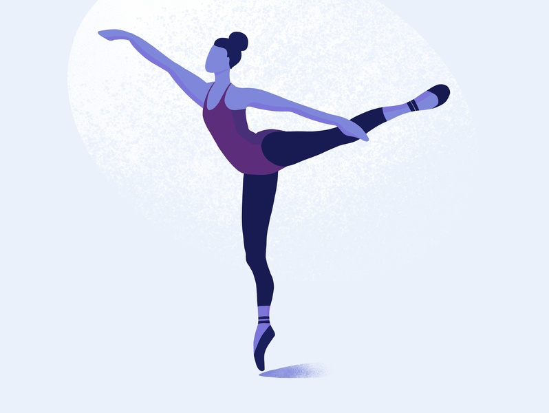 Ballet woman texture drawing illustration shadow light ipad drawing procreate girls night dancer dance ballet ballerina art