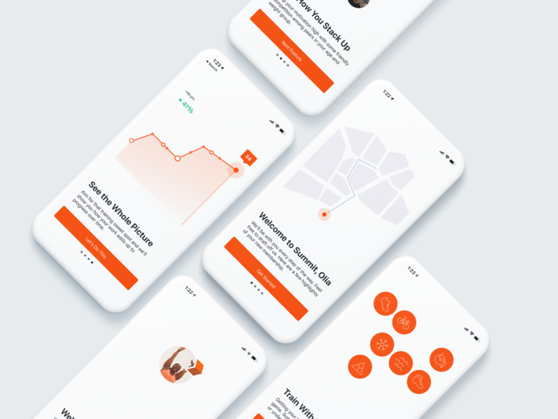 Strava Animated Onboarding Experience leaderboard route activity fitness tracking app health sketch bodymovin after effects illustrations onboarding motion design animation strava