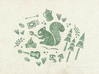 Campsite Illustration WIP