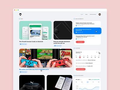 News app 📰 design ux ui feed bitcoin announcement calendar web app newsapp newsfeed news