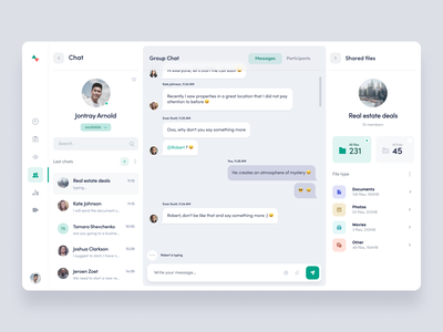 KeyVue chat members send documents file file upload group chat conversation minimal animation chat app chat message platform product clean interface app ux ui
