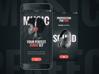 Mobile music app gamification graphic music mobile ui ux app