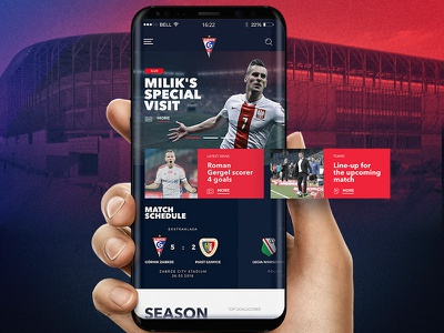 Home page - Górnik Zabrze league web webdesign mobile soccer football