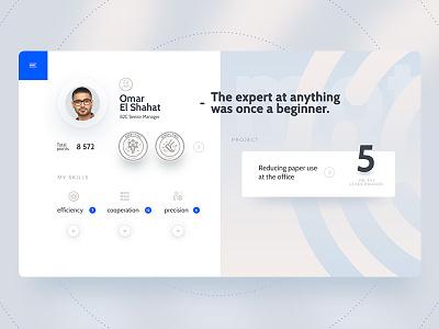 Profile view profile webdeisgn design web ui graphic app