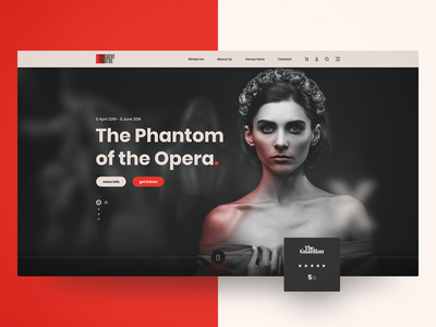Theatre Homepage website web visual language visual ux ui design ui tickets theatre show search responsive performance modular interface homepage design components art direction