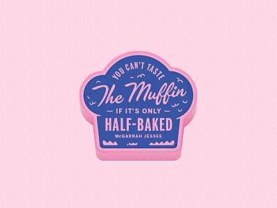 half-baked blue pink half-baked muffin