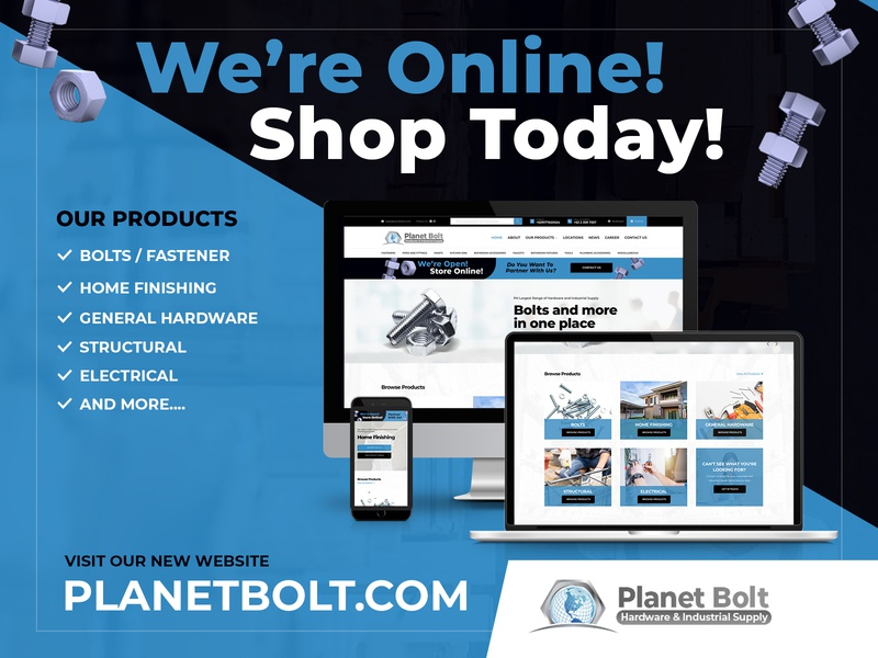 Planet Bolt New eCommerce Shop Design & Development ecommerce shop ux ui branding creative designer