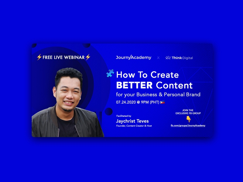 Free Live Webinar: How to Create Better Content content creation webinar webinars creative designer philippines