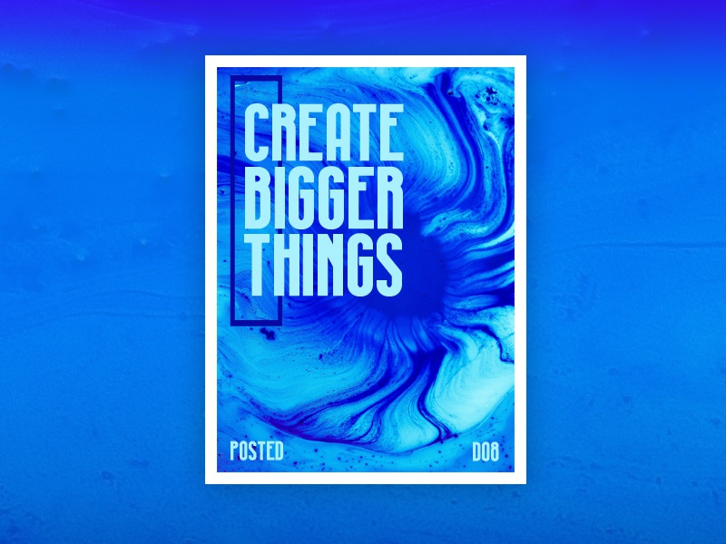 Create bigger things