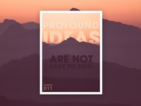 Profound Ideas Poster Design