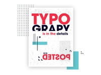Typography is in the details poster design